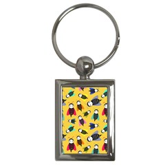 Bees Animal Pattern Key Chains (rectangle)  by Nexatart