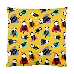 Bees Animal Pattern Standard Cushion Case (two Sides) by Nexatart