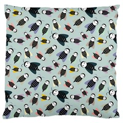 Bees Animal Pattern Large Cushion Case (one Side) by Nexatart