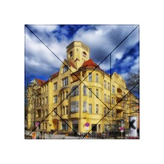 Berlin Friednau Germany Building Acrylic Tangram Puzzle (4  x 4 ) by Nexatart
