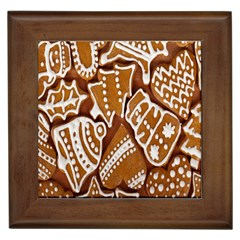 Biscuit Brown Christmas Cookie Framed Tiles by Nexatart