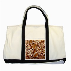 Biscuit Brown Christmas Cookie Two Tone Tote Bag by Nexatart