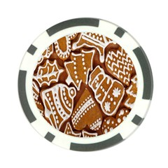 Biscuit Brown Christmas Cookie Poker Chip Card Guard by Nexatart