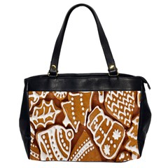 Biscuit Brown Christmas Cookie Office Handbags (2 Sides)  by Nexatart