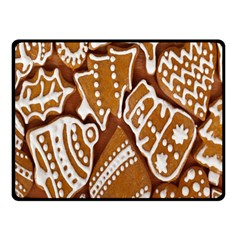 Biscuit Brown Christmas Cookie Double Sided Fleece Blanket (small)  by Nexatart