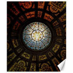 Black And Borwn Stained Glass Dome Roof Canvas 8  X 10  by Nexatart