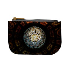 Black And Borwn Stained Glass Dome Roof Mini Coin Purses by Nexatart