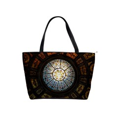 Black And Borwn Stained Glass Dome Roof Shoulder Handbags by Nexatart