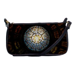 Black And Borwn Stained Glass Dome Roof Shoulder Clutch Bags by Nexatart