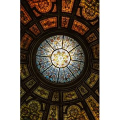 Black And Borwn Stained Glass Dome Roof 5 5  X 8 5  Notebooks by Nexatart