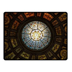 Black And Borwn Stained Glass Dome Roof Fleece Blanket (small) by Nexatart