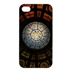 Black And Borwn Stained Glass Dome Roof Apple Iphone 4/4s Premium Hardshell Case by Nexatart