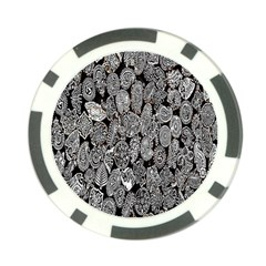Black And White Art Pattern Historical Poker Chip Card Guard by Nexatart