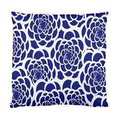 Blue And White Flower Background Standard Cushion Case (Two Sides)