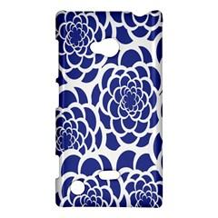 Blue And White Flower Background Nokia Lumia 720 by Nexatart