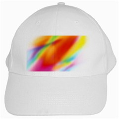 Blur Color Colorful Background White Cap by Nexatart