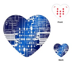 Board Circuits Trace Control Center Playing Cards (heart)  by Nexatart