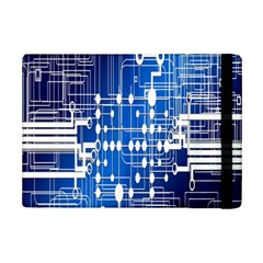 Board Circuits Trace Control Center Ipad Mini 2 Flip Cases by Nexatart