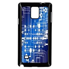 Board Circuits Trace Control Center Samsung Galaxy Note 4 Case (black) by Nexatart
