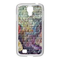 Brick Of Walls With Color Patterns Samsung Galaxy S4 I9500/ I9505 Case (white) by Nexatart