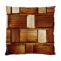 Brown Wall Tile Design Texture Pattern Standard Cushion Case (Two Sides)