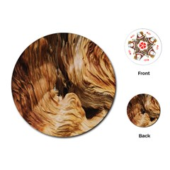 Brown Beige Abstract Painting Playing Cards (round)  by Nexatart