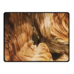 Brown Beige Abstract Painting Fleece Blanket (small) by Nexatart