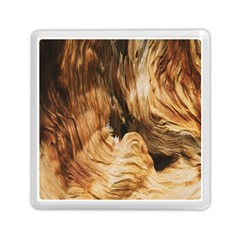 Brown Beige Abstract Painting Memory Card Reader (square)  by Nexatart