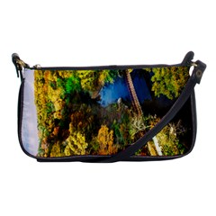 Bridge River Forest Trees Autumn Shoulder Clutch Bags by Nexatart