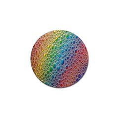 Bubbles Rainbow Colourful Colors Golf Ball Marker by Nexatart