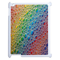 Bubbles Rainbow Colourful Colors Apple iPad 2 Case (White) by Nexatart