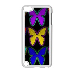 Butterflies Pattern Apple Ipod Touch 5 Case (white) by Nexatart