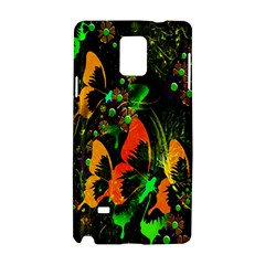 Butterfly Abstract Flowers Samsung Galaxy Note 4 Hardshell Case by Nexatart