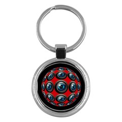 Camera Monitoring Security Key Chains (Round)  by Nexatart