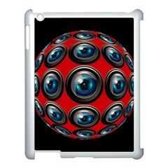 Camera Monitoring Security Apple Ipad 3/4 Case (white) by Nexatart