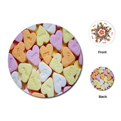 Candy Pattern Playing Cards (Round)  by Nexatart