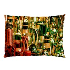 Candles Christmas Market Colors Pillow Case by Nexatart