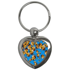 Cartoon Ladybug Key Chains (heart)  by Nexatart