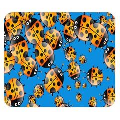 Cartoon Ladybug Double Sided Flano Blanket (small)  by Nexatart