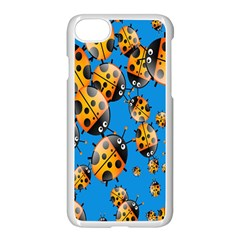 Cartoon Ladybug Apple Iphone 7 Seamless Case (white) by Nexatart