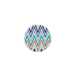 Chevrons Colourful Background 1  Mini Magnets by Nexatart