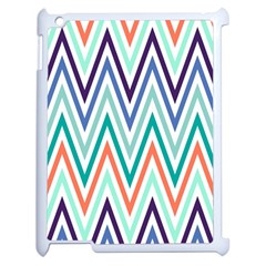 Chevrons Colourful Background Apple iPad 2 Case (White) by Nexatart