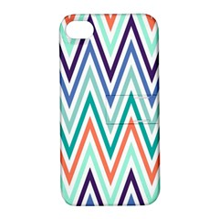 Chevrons Colourful Background Apple Iphone 4/4s Hardshell Case With Stand by Nexatart