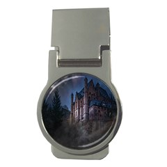 Castle Mystical Mood Moonlight Money Clips (round)  by Nexatart