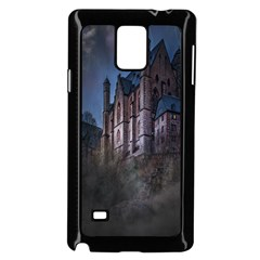 Castle Mystical Mood Moonlight Samsung Galaxy Note 4 Case (black) by Nexatart
