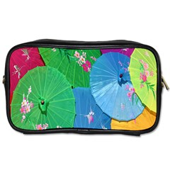 Chinese Umbrellas Screens Colorful Toiletries Bags by Nexatart
