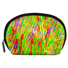 Cheerful Phantasmagoric Pattern Accessory Pouches (large)  by Nexatart