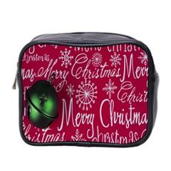 Christmas Decorations Retro Mini Toiletries Bag 2 Side