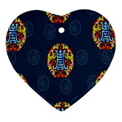 China Wind Dragon Heart Ornament (two Sides) by Nexatart