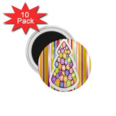 Christmas Tree Colorful 1 75  Magnets (10 Pack)  by Nexatart